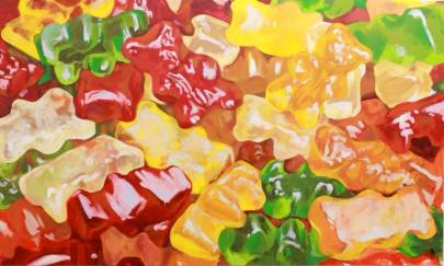 "SOLD ""Gummy Bears"" - original painting, acrylic on canvas 150x100 cm"
