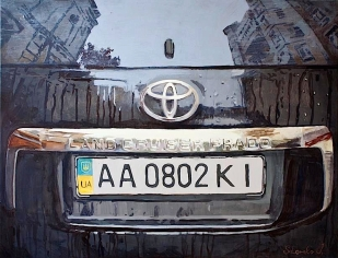 Toyota-reflection-acrylic-painting