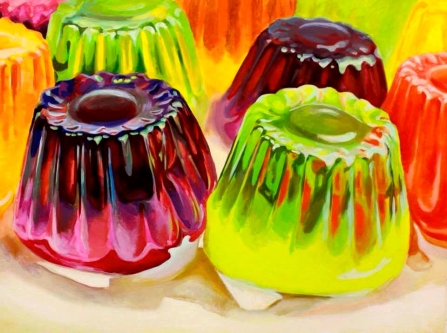 "SOLD ""Jelly Towers"" - original painting, acrylic on canvas, 200x150 cm"