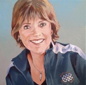 Portrait, acrylic on canvas