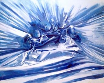 """Tension"" - original painting, acrylic on canvas, acrylic on canvas, 150x200 cm"
