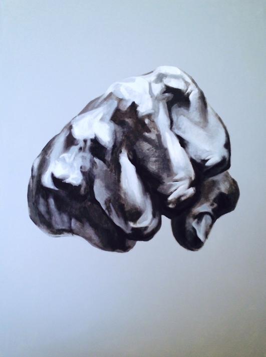 """Fiesta"" - original painting, acrylic on canvas, acrylic on canvas, 24x36"""
