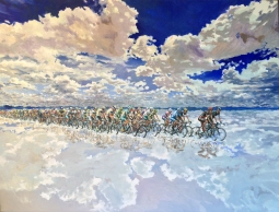 cycling-peloton-acylic-painting