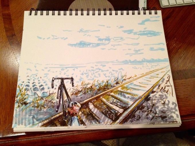 Crossing Railway - illustration