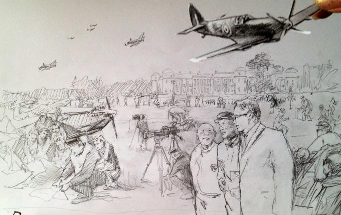Goodwood Revival sketch