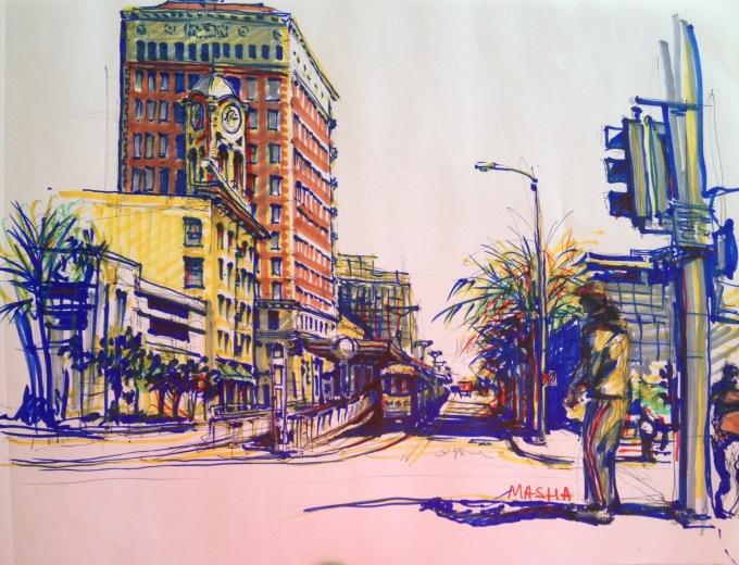 Long Beach - sketch5