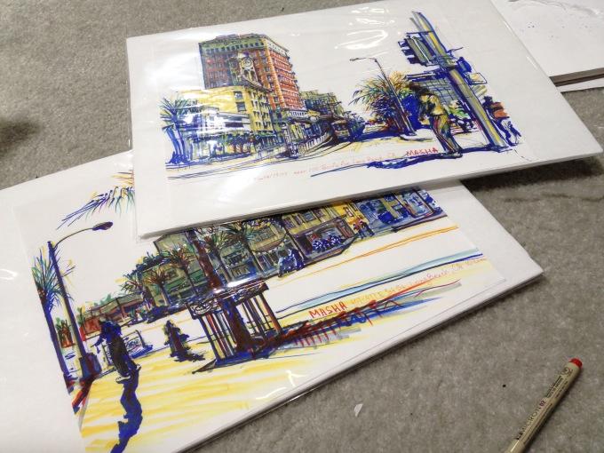 Long Beach - sketches