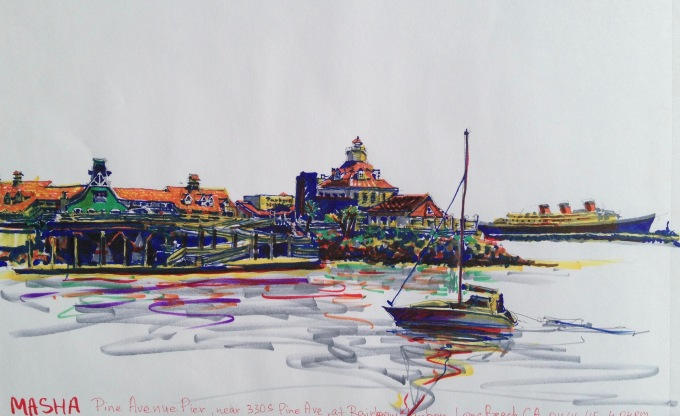 Long Beach - sketch2