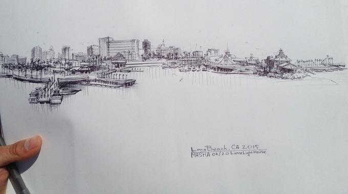 Long Beach - sketch