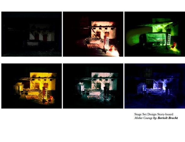 Mother Courage Stage Set Design - the idea is to place the action of the play in contemporary time, based on USA/Iraq war