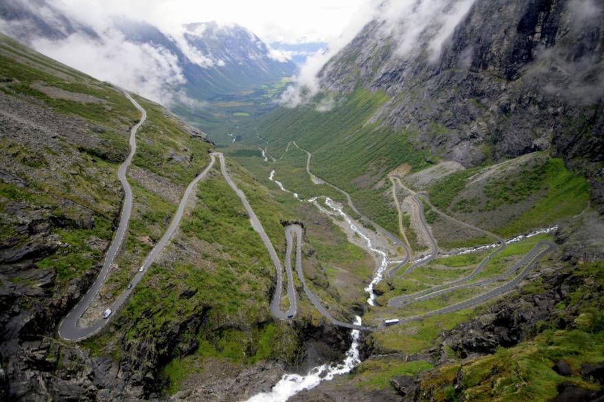 Trollstigen Mountain Road in Norway