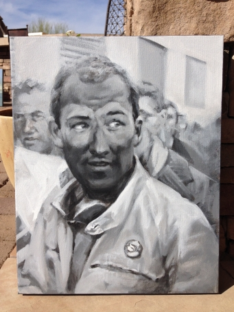 Stirling Moss - Portrait, acrylic on canvas