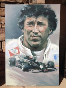 Mario Andretti - original painting acrylic on canvas