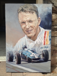 Dan Gurney - original painting acrylic on canvas