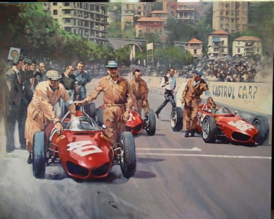 Monaco 61 - original painting acrylic on canvas