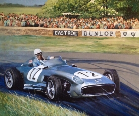 Stirling Moss - original painting acrylic on canvas