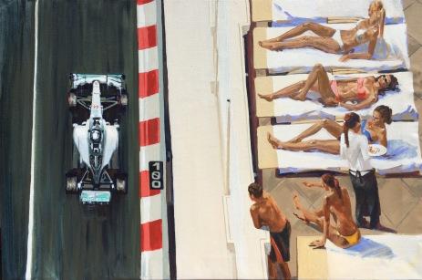 Monaco Hamilton - original painting acrylic on canvas