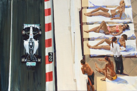 Monaco Hamilton - original painting acrylic on canvas